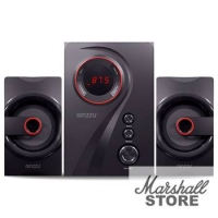 Акустика 2.1 Ginzzu GM-406, 2x10W+20W, bluetooth, черный