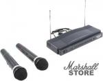 Микрофон Defender MIC-155, динамический, беспроводной, (2шт) Black