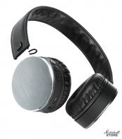Наушники Bluetooth Qumo Metallic ВТ 0021, черный/серый (24075)