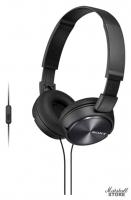 Наушники с микрофоном Sony MDR-ZX310AP/B, Черный