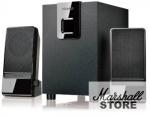 Акустика 2.1 Microlab M100 2x2.5W+5W, Wooden, Black