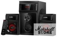 Акустика 2.1 SVEN MS-302, 2x10W+20W, FM, USB/SD, ПДУ, Черный
