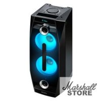 Портативная акустика Ginzzu GM-201 Midi 500W(пиковая), LED RGB, BT, USB,SD, FM, ДУ, черный (17038)