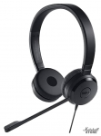 Гарнитура DELL Pro Stereo Headset UC350, mini jack 3.5 + USB, черный (520-AAMC)