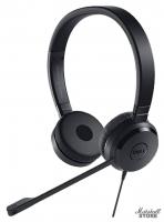 Гарнитура DELL Pro Stereo Headset UC350, mini jack 3.5 + USB, черный (520-AAMC)