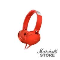Гарнитура Sony MDR-XB550AP, красный