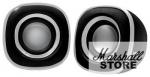 Акустика 2.0 BBK CA-301S, 2x1.5W, USB, черный/металлик