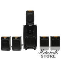 Акустика 5.1 Dialog Progressive AP-505, 5х7W+45W, SD, USB, Bluetooth, FM, ПДУ, черный