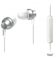 Наушники с микрофоном Philips SHE3855SL/00, серебристый