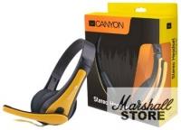 Наушники с микрофоном Canyon CNS-CHSC1BY, черный-желтый
