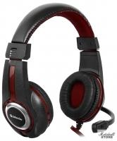 Гарнитура Defender Warhead G-185, черный/красный (64106)