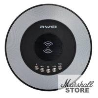 Портативная акустика Awei Y290 bluetooth/micro CD/AUX/FM/Clock/Wireless charging, черный