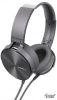 Наушники с микрофоном Sony MDR-XB950AP, серый