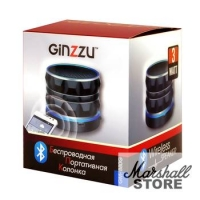 Портативная акустика 1.0 Ginzzu GM-880G (BT, 3W, FM, microSD, USB, AUX), черный