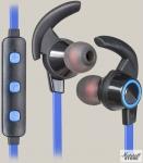 Гарнитура Bluetooth Defender OutFit B725, черный/синий (63725)