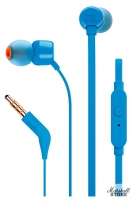 Наушники с микрофоном JBL T110, синий (JBLT110BLU)