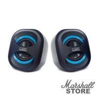 Акустика 2.0 CBR CMS, 333 2x3W, USB, черный/синий