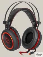 Гарнитура Defender DeadFire G-530D, USB, черный/красный (64530)