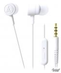 Наушники с микрофоном Audio-Technica ATH-CKL220iS, белый