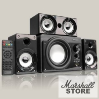 Акустика 3.1 CROWN CMBS-390, 3x8W+15W, BT, FM, CR, USB, ПДУ, черный