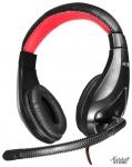 Гарнитура Oklick HS-L100, черный/красный (NO-530)