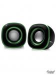 Акустика 2.0 BBK CA-301S, 2x1.5W, USB, черный/зеленый