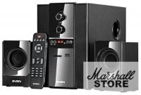Акустика 2.1 SVEN MS-1820 (2x11W+18W, SD, ПДУ, FM-tuner, USB), Black