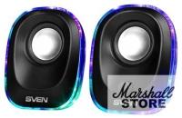 Акустика 2.0 SVEN 330 2x2.5W, питание USB, черный (SV-014001)