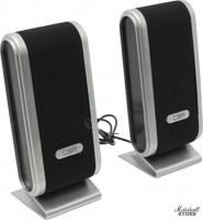Акустика 2.0 CBR CMS 299, 2x3W, USB, черный/серый