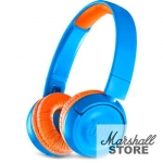 Наушники Bluetooth JBL JR300BT, синий/оранжевый (JBLJR300BTUNO)