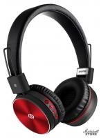 Гарнитура Bluetooth Digma BT-12, черный/красный