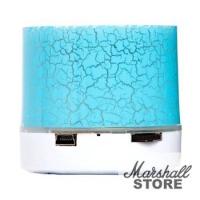 Портативная акустика NoName S10 LED mini, USB, microSD, голубой