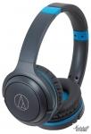 Наушники Bluetooth Audio-Technica ATH-S200BT GBL, серый/синий
