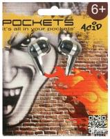 Наушники Pockets ACID вкладыши, белые (SPGACD-071)