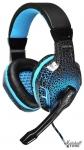 Гарнитура Oklick HS-L400G ZEUS, USB, черный/синий