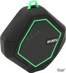 Портативная акустика 1.0 SVEN PS-77 5W, FM, BT, microSD, черный-зеленый (SV-016463)