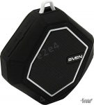 Портативная акустика 1.0 SVEN PS-77 5W, FM, BT, microSD, черный-белый (SV-016456)