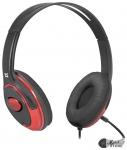 Гарнитура Defender Phoenix 875 черный/красный (63875)