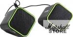 Акустика 2.0 SmartBuy CUTE, 6W, USB, Черный-зеленый (SBA-2580)