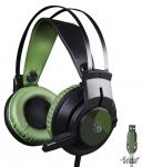 Гарнитура A4Tech Bloody J450, USB, черный/зеленый