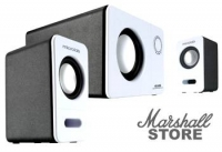 Акустика 2.1 Microlab M600, 2x12W+16W, Wooden, белый/черный